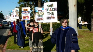 Leading the informational picket for potential strike action in Fall of 2012 at CSU Long Beach